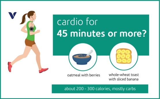 cardio for 45 mins or more